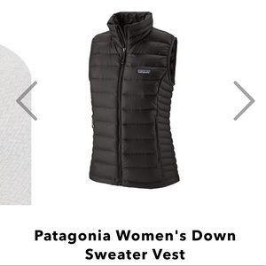 Patagonia down vest - women's black